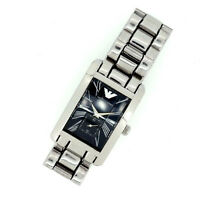 Armani Watches Silver Woman Authentic Used Y1232