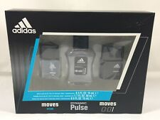 Adidas 3 Piece Gift Set For Men: Moves, Dynamic Pulse & Moves 0:01 Brand NEW