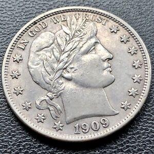 1909 S Barber Half Dollar 50c High Grade AU - UNC MS San Francisco #9448