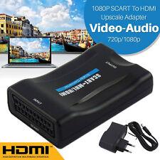 Euroconector Vídeo Convertidor Adaptador a HDMI Audio + CABLE PARA DVD EU
