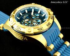 Invicta Men 53mm Speedway Viper Gen III Chronograph Blue Dial Gold Tone Watch !!
