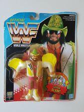 Vintage WWF Hasbro Carded MOC Figure - Macho Man (Savage Slam)