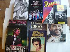 28 Bücher Musiklegenden, Beatles, Elvis, Lennon, Bocelli, Richards, Backstreets