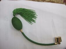 Replacement Atomizer Ball & Cord w Tassel GREEN - Silver or Gold Hardware
