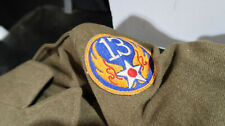 WWII US Army 13th Air Corps Force 4 Pocket Tunic 36R