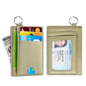 Slim Minimalist Wallet Front Pocket Wallets RFID Blocking ID Credit Card Holder