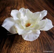 """2 1/2"""" Cream White Apple Blossom Silk Flower Hair Clip,Hair Accessory,Bridal"""