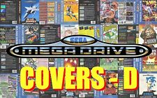 Sega Mega Drive Remplacement Box Art Case Insert Cover - Letter D - High Quality