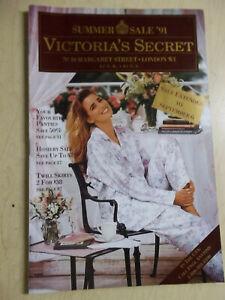 Victoria's Secret #10 Margaret st London W1 Summer Sale 1991 Jill Goodacre cover