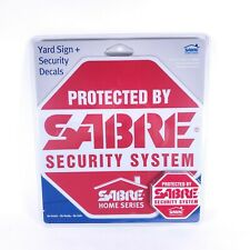 SABRE Home Security Alarm Yard Sign & 5 Window Decal Stickers Crime Deterrent