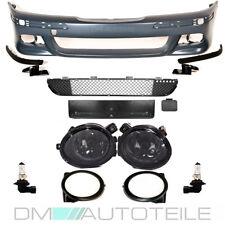BMW E39 5er STOßSTANGE vorne grundiert+ Set Nebel Schwarz für M-Paket M5 + *ABE*