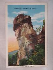VINTAGE POSTCARD VIEW OF CHIMNEY ROCK NEAR ASHEVILLE NORTH CAROLINA 1933