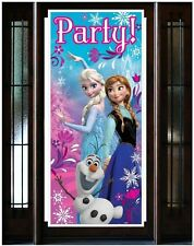 Disney Frozen Party Theme Door Poster Plastic Girls Birthday Decoration Supplies
