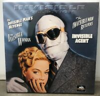 The Invisible Man Collection Box Set Laserdisc - BRAND NEW - VERY RARE