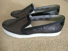 Geox black slip on shoes size 37/ size 4 unworn!