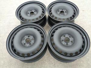 """8""""x18"""" JBW PEPPERPOT MATT BLACK STEEL WHEELS TO SUIT VW T5 SET OF 4"""