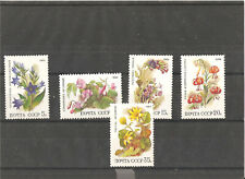 5 MNH stamps (serie) with any flowers,1988 year