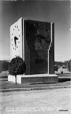 1940s Spokane Washington Mamer Memorial Clock Leo RPPC real photo 11517