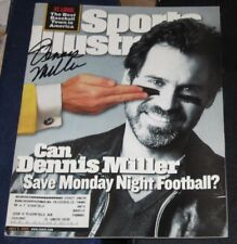 Dennis Miller Comedian Monday Night Football SIGNED Sports Illustrated SI COA