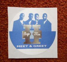 BOYZ II MEN MEET & GREET TOUR PASS Satin Fabric patch on paper nice cond