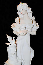 """Italy Giuseppe Armani Florence Figurine Lady With Doves 0950F 12"""" Tall"""