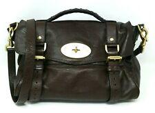 $1500 Mulberry Alexa Chocolate Soft Buffalo Leather Medium Satchel Hand Bag