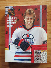 Official RECORD Book 1983-84 WAYNE GRETZKY on Cover EDMONTON OILERS