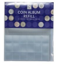 WHSmith Small Coin Album Refills Pack Of 3 - 36 Pockets Per Sheet