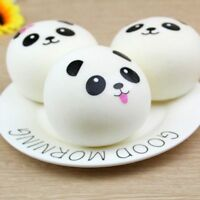 Venting Ball Cartoon PU Stress Bread Toys Straps Panda Toys Squeeze Silicone