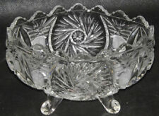 Bowl Clear 1980s-Present Pressed Glass