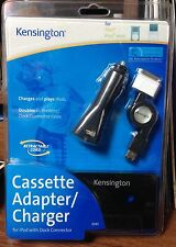 Kensington Cassette Adapter/Charger For Ipod With Dock Connector MIP