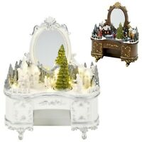 LED Light Up Christmas Festive Village Illuminated Decor Dresser Ornament