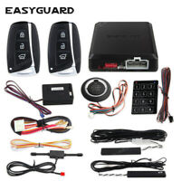 Easyguard pke car alarm system remote start stop push start button keyless entry