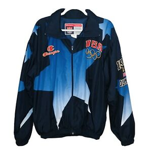 Champion 1996 Atlanta US Summer Olympic Team Windbreaker Jacket Sz XL GREAT!