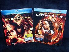 The Hunger Games & Catching Fire (Blu-ray/DVD, 2013, 4-Disc Set) New & Open New!