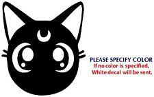 "Luna Sailor Moon JDM Funny Game TV Movie Vinyl Sticker Decal Car Window Wall 6"""