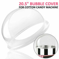 """Commercial Cotton Candy Machine Cover 21"""" Clear Floss Maker Bubble Shield Dome"""