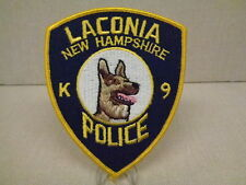 LACONIA (NH) POLICE DEPARTMENT K-9 PATCH, PRE-1990, SCARCE, FROM MUSEUM DISPLAY