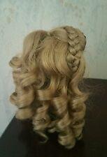 """Kemper Modacrylic Blond Doll Wig Pencil Curls & Braid 8"""" - 9"""""""