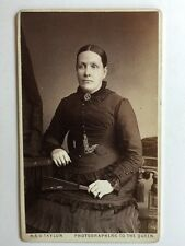 Victorian Carte De Visite CDV Photo - A & G Taylor  - Leeds - Lady With Fan