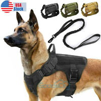 NEW Tactical Dog Vest Harness – Military K9 Dog Training Vest –Working Dog+Leash