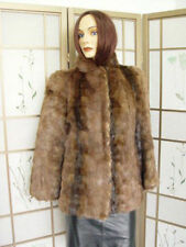 *Mint Canadian Muskrat Fur Jacket Coat Women Woman Size 6 Small New Lining!