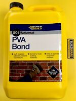 EVERBUILD 501 Universal PVA Bond BONDING, PRIMER, SEALER & ADMIXTURE 5Ltr & 1Ltr
