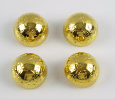 Celine Paris Button Vintage round domed gold plated star design lot 4 pc 26mm