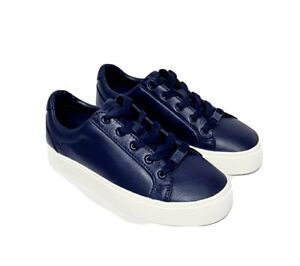 Ugg Zilo Navy Blue Leather Shoes UK 6 RRP £110 Casual Trainers Comfort EU 39
