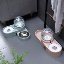 Dog & Cat Water Fountain Pet Non-Electric Food and Automatic Drinking Bowl 1.8L