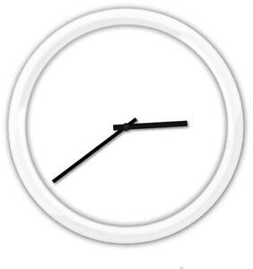 Minimalist Modern Wall Clock WHITE FRAME - Bedroom Kitchen Home Decor XMAS GIFT