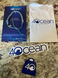 4 Ocean MANTA RAY Beaded Bracelet - ADJUSTABLE with 2 bonus 4OCEAN STICKERS