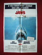 Jaws * Original Movie Poster 27x41 1979 Re-Release Of The 1975 Classic Spielberg