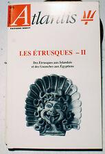 LES ETRUSQUES/II/REVUE ATLANTIS/N° 373/1993/TOSCANE/ITALIE